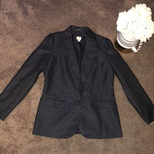 Blue with gold tiny dots blazer. Very fashionable